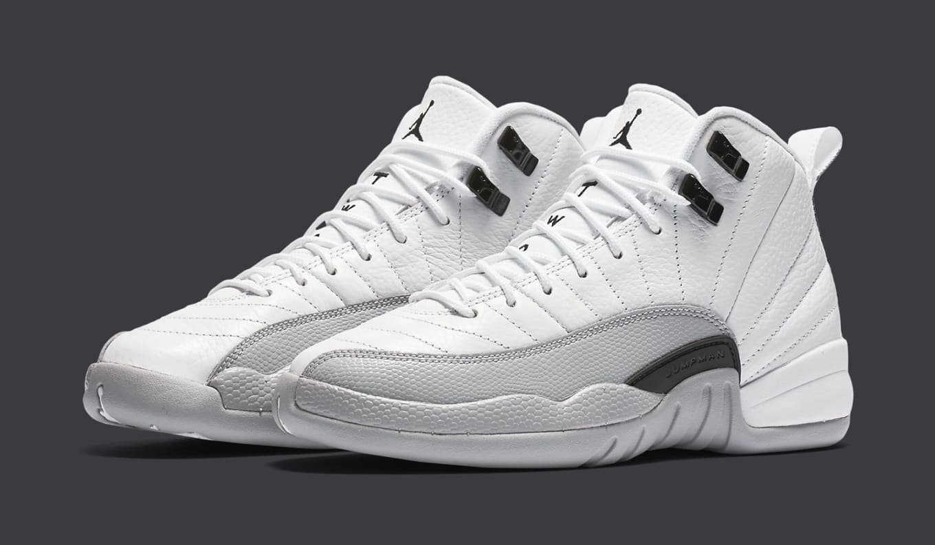 quality design 67a9e 3b4ed Air Jordan XII 12 White Grey-Black (1)