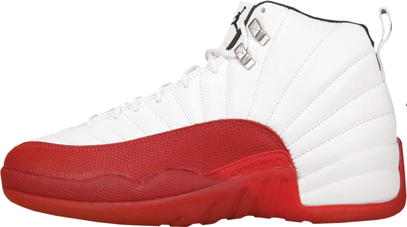 reputable site 8a7b3 4c2db Air Jordan XII 130690-161. WhiteVarsity Red-Black 1997