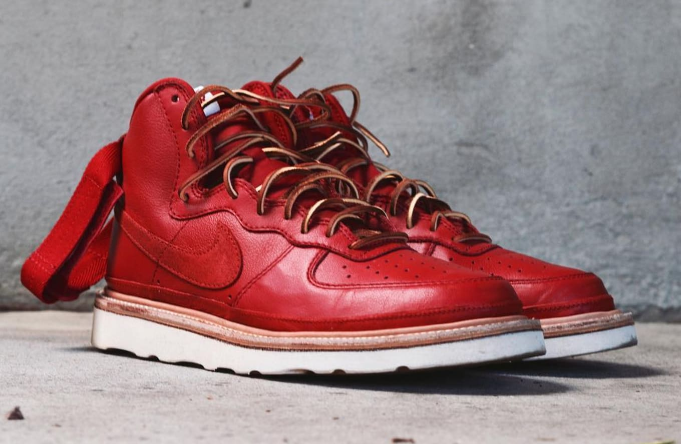 hot sale online 0a189 40f7a ... Nike Air Force 1s Into Hiking Boots. A very premium custom treatment.