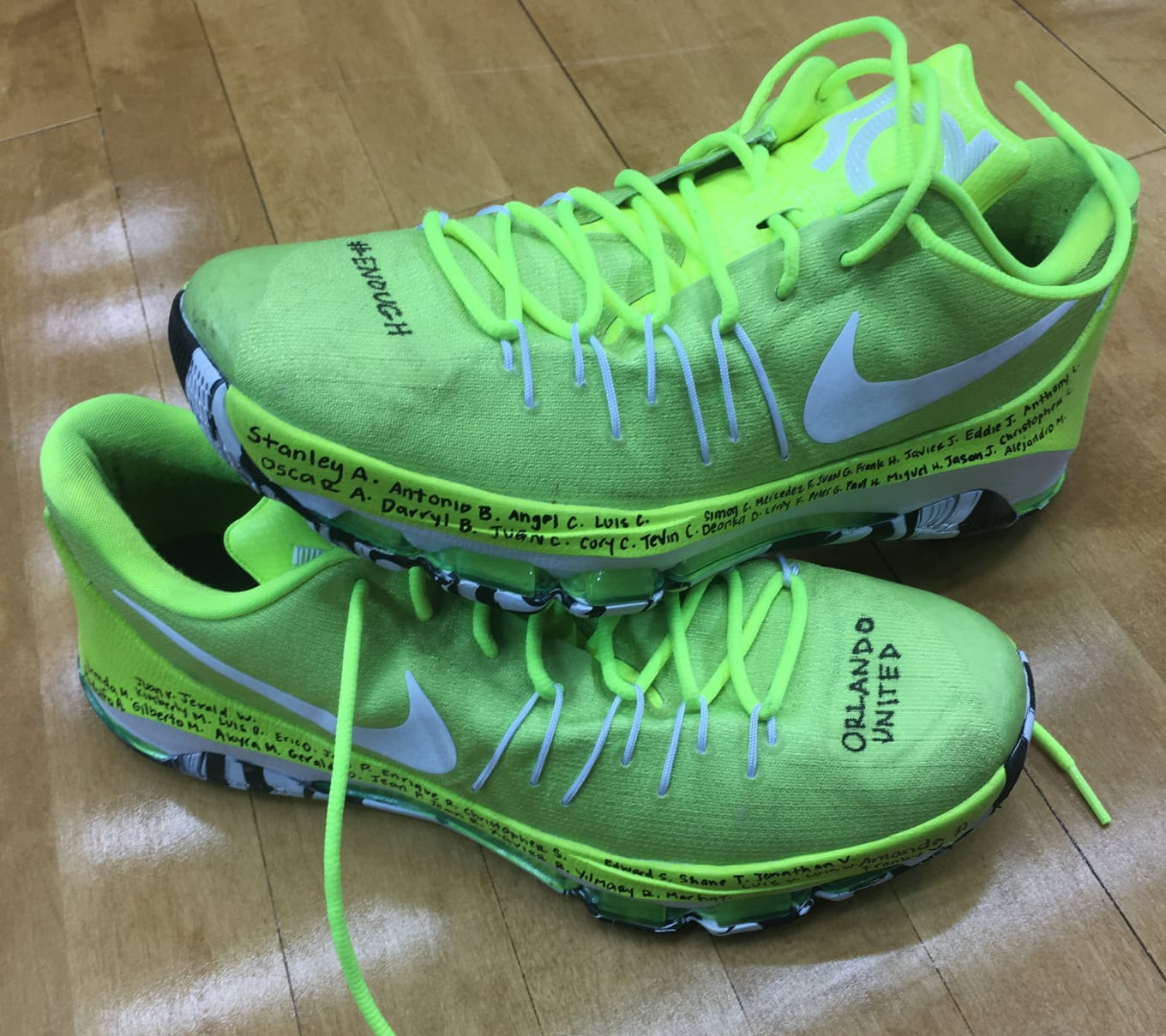 best sneakers 496f6 ec53c Basketball Star Honors Orlando Shooting Victims on Shoes. Breanna Stewart  ...