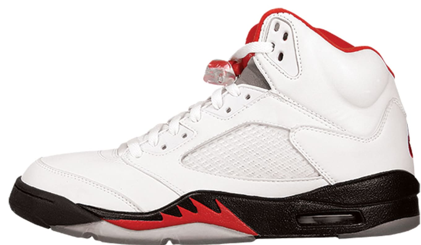b77e2afc6fd8 Air Jordan 5 (V). Style Code  136027-101. Colorway  White Black-Fire Red