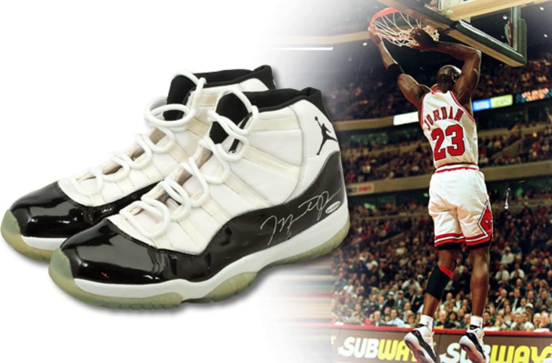 42d8ce840b027a Michael Jordan Game Worn Concord Air Jordan 11 72-10 1996