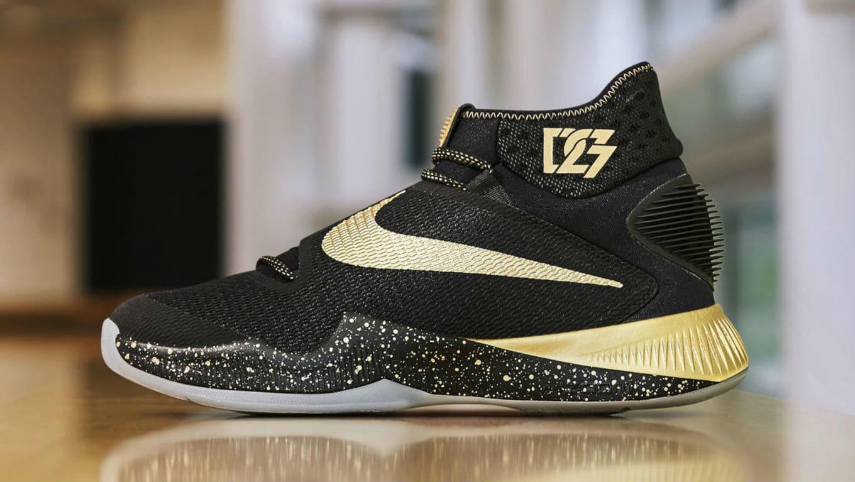 Draymond Green Nike HyperRev 2016 Black Gold Finals PE (1) 512fc0e8f
