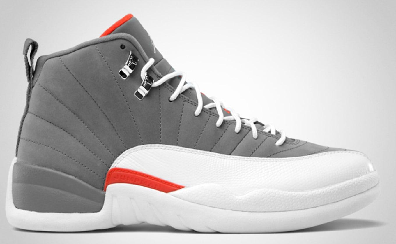 info for 60bdd ca014 Air Jordan 12 Retro  Bobcats  130690-012. Cool Grey White-Team Orange