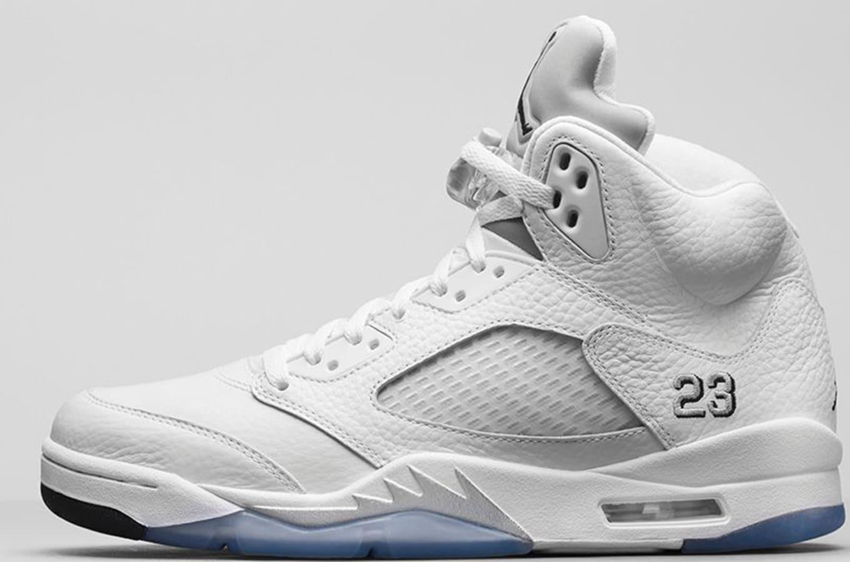 462b158479bd35 Air Jordan 5 Retro  White Metallic