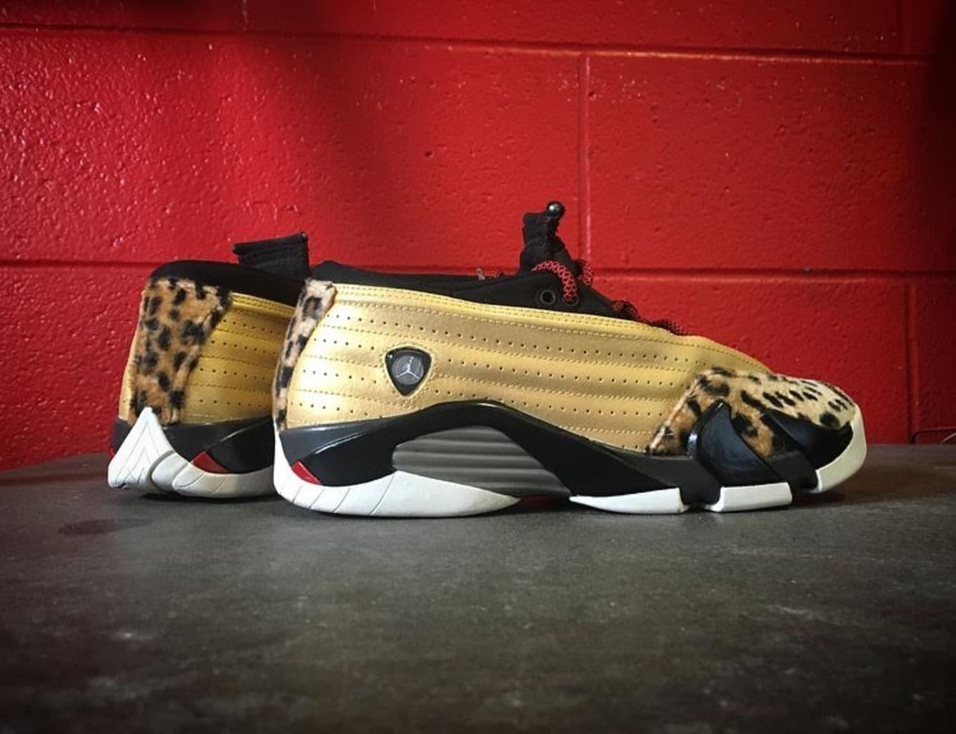 ef485e1879e7 Enzo Amore Leopard Air Jordan 14 Low Custom by Mache (1)