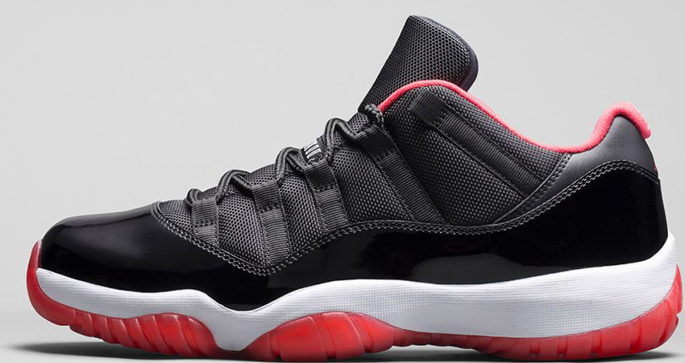 online store 94f8c 1d9a5 Air Jordan 11 retro Low Black True Red White
