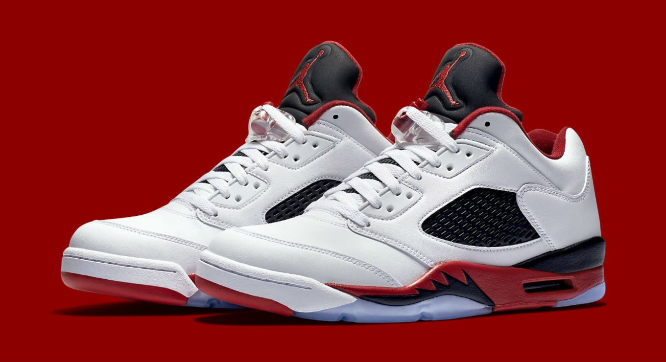 sports shoes 01662 28648 Jordan 5 Fire Red Low 819171-101