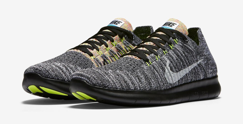 Nike Free RN Flyknit Multicolor Stripes 831069 003 | Shoe