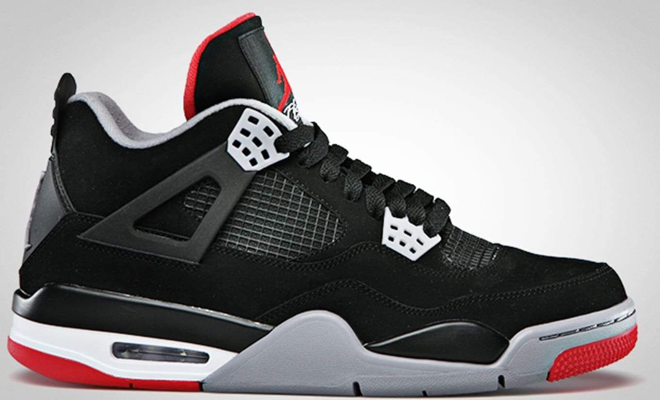 premium selection 43ade daf46 Air Jordan 4 Retro  Bred