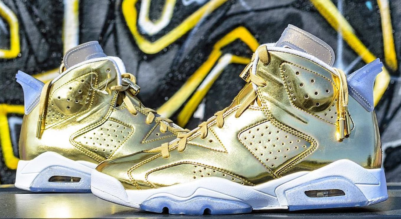 promo code 44e36 1d89f Spike Lee Gold Air Jordan 6 | Sole Collector