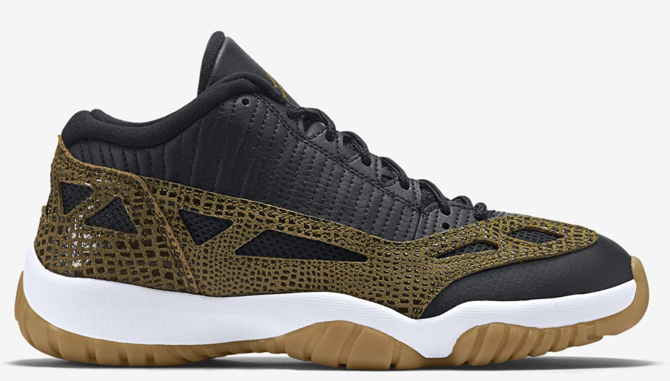 new product dec56 c9fc1 Air Jordan 11 Retro Low Black Militia Green Gum Yellow Infrared 23