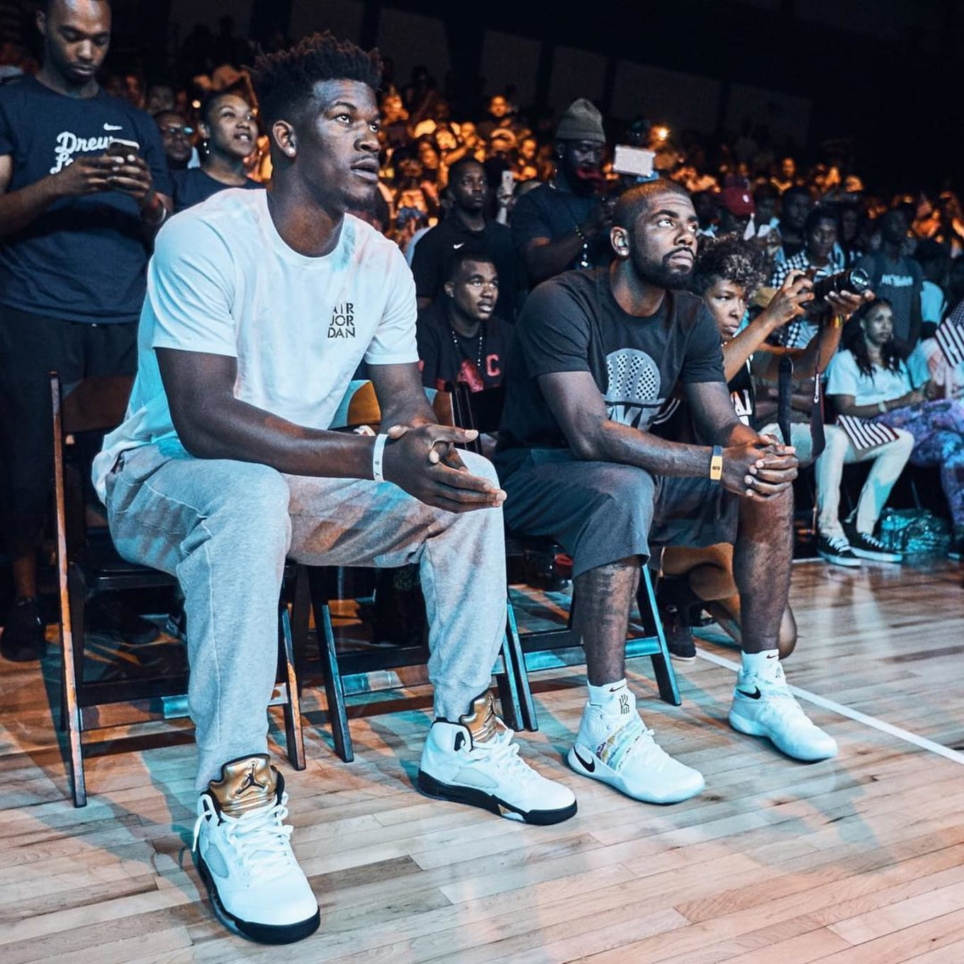 Jimmy Butler Wearing the Olympic Gold Medal Air Jordan 5 (1) 20129ea2d
