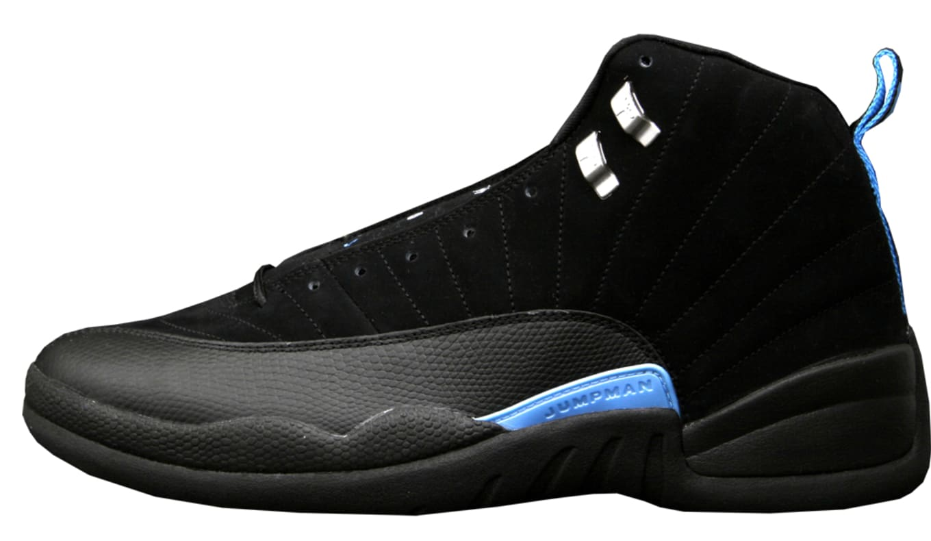 newest 1614f 9b600 Air Jordan 12 Retro  Nubuck  130690-018. Black White-University Blue