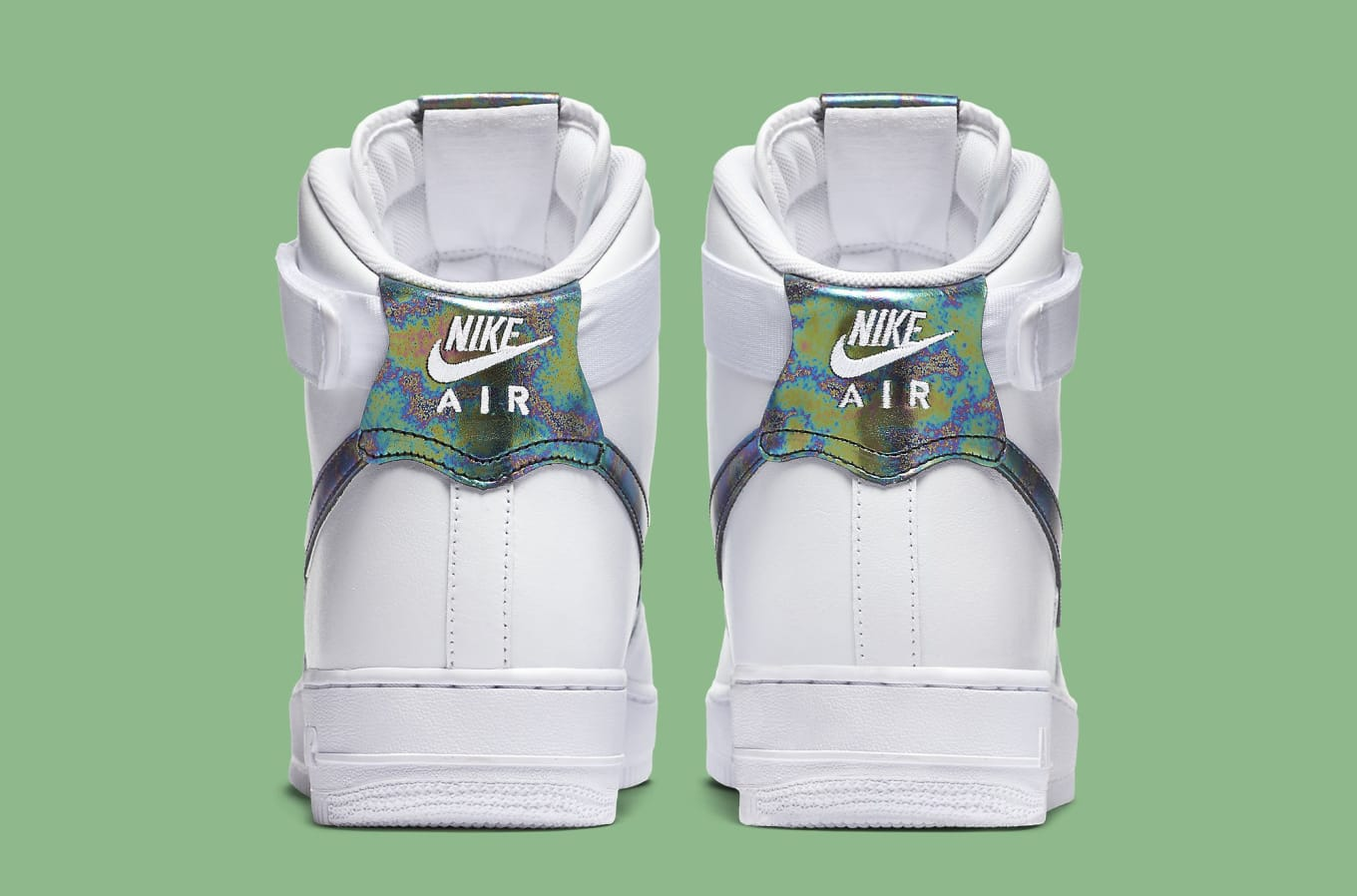 d7f02c571f9d0b Iridescent Accents for Nike s Latest Air Force 1. Shiny Swooshes.