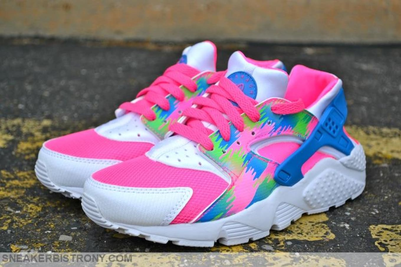fe222e3121b1 Pink Blast Photo Blue-Electric Green-White · Nike Air Huarache
