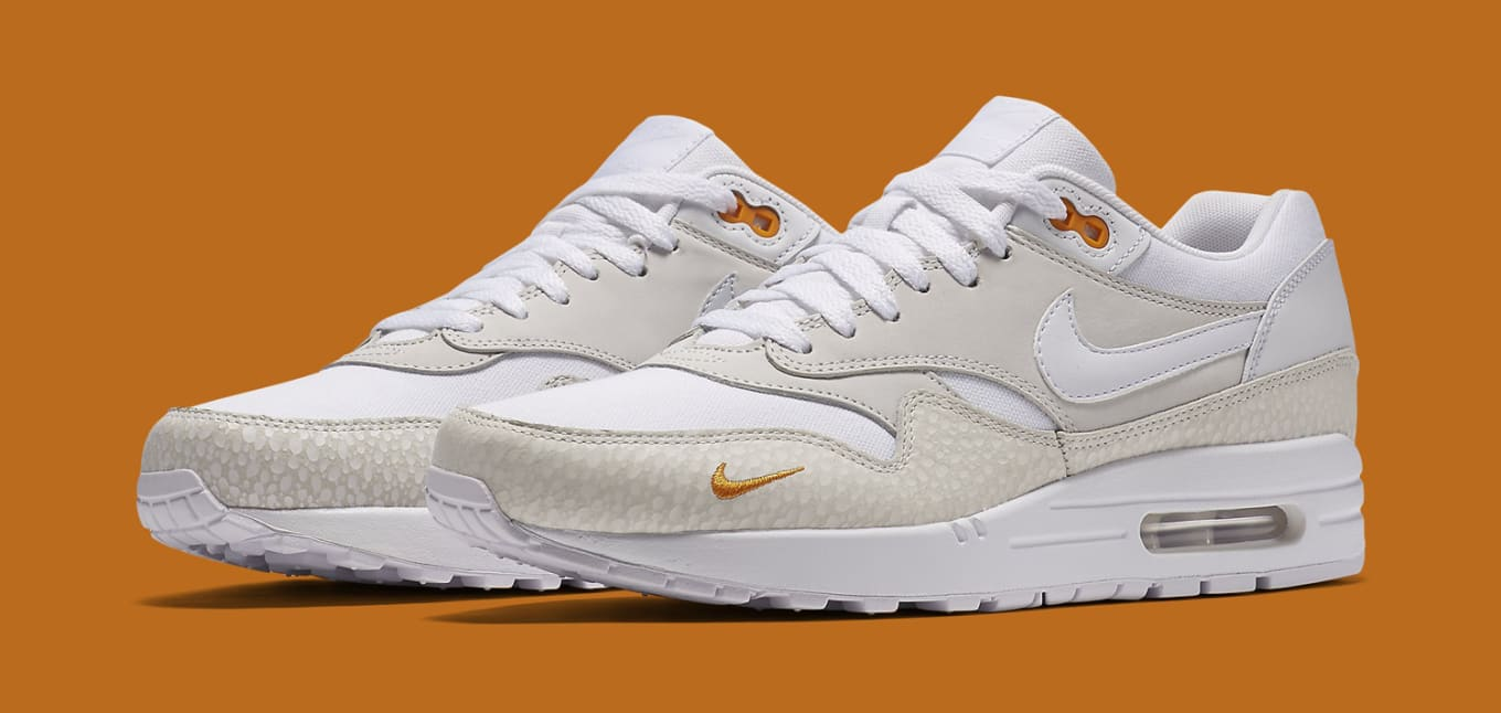 Nike Air Max 1 Mini Swoosh White Kumquat Sole Collector  Sole Collector