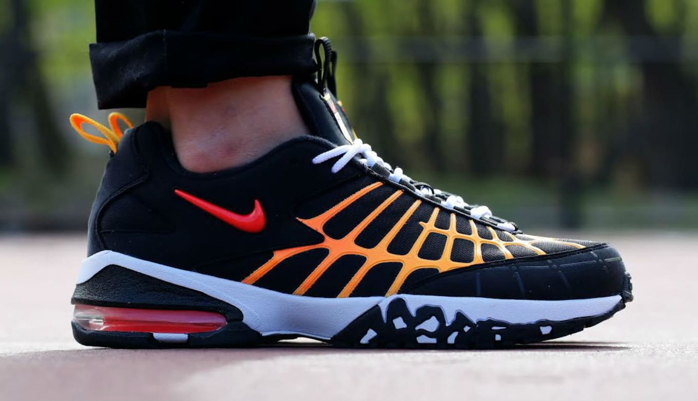 buy popular a3168 231c9 Nike Air Max 120 Black/Laser Orange | Sole Collector