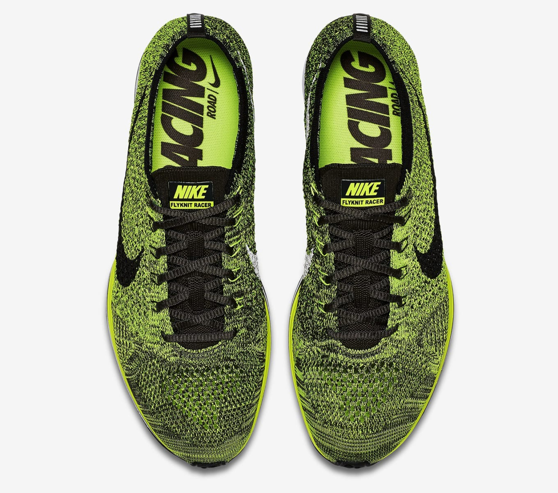 0c7003ca5ad4 Nike Flyknit Racer Volt Black 2016