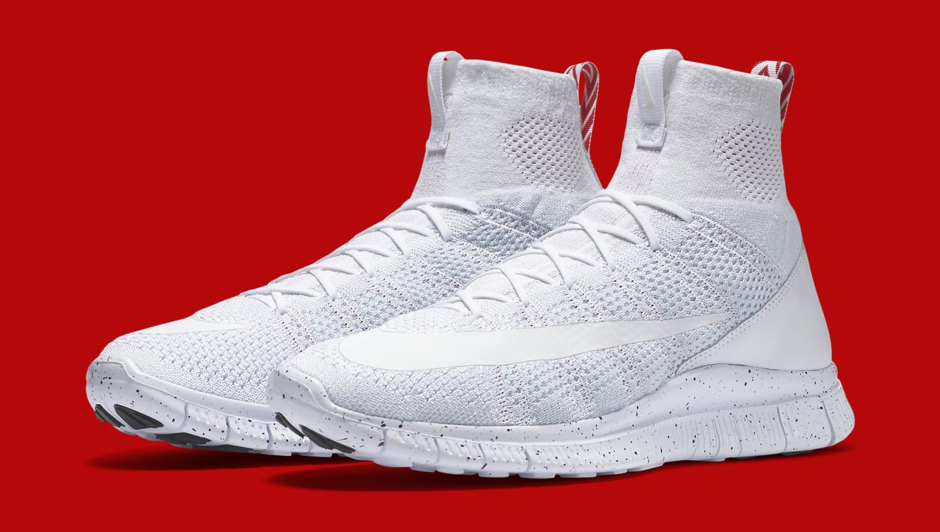 Nike Free Mercurial Superfly White Red | Sole Collector