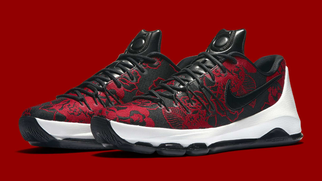 d07d10b19a25 Nike KD 8 Red Floral 806393-004 (1)