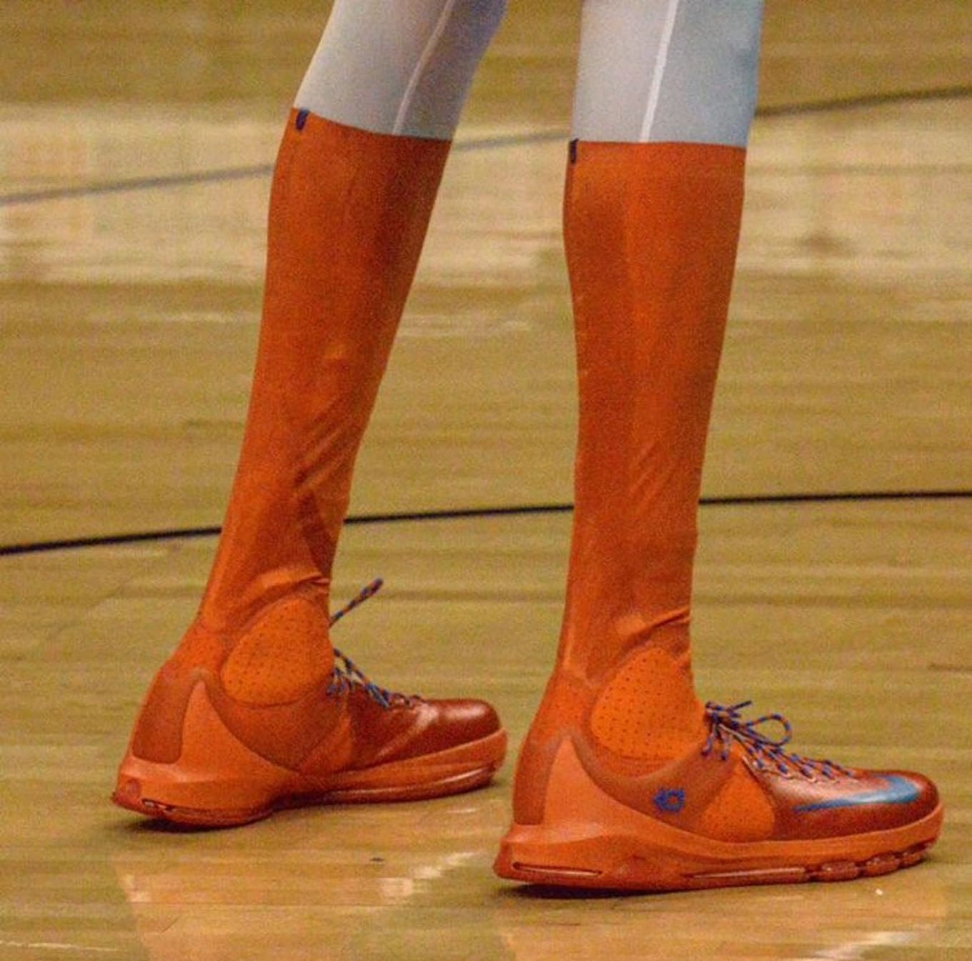 fd04b72254c Kevin Durant Wearing the Nike KD 8 Elite High