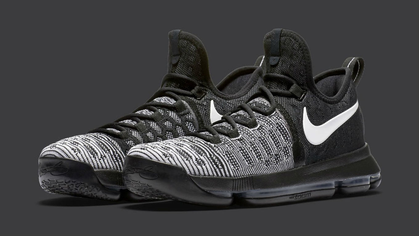hot sale online abcb8 af237 Nike KD 9 Oreo Black White Release Date 843392-010 (1)