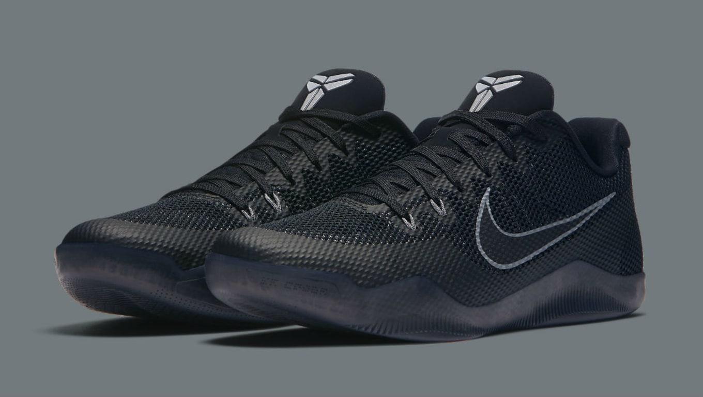 274f25127a2 Nike Kobe 11 EM Low Black Cool Grey 836183-001 (1)