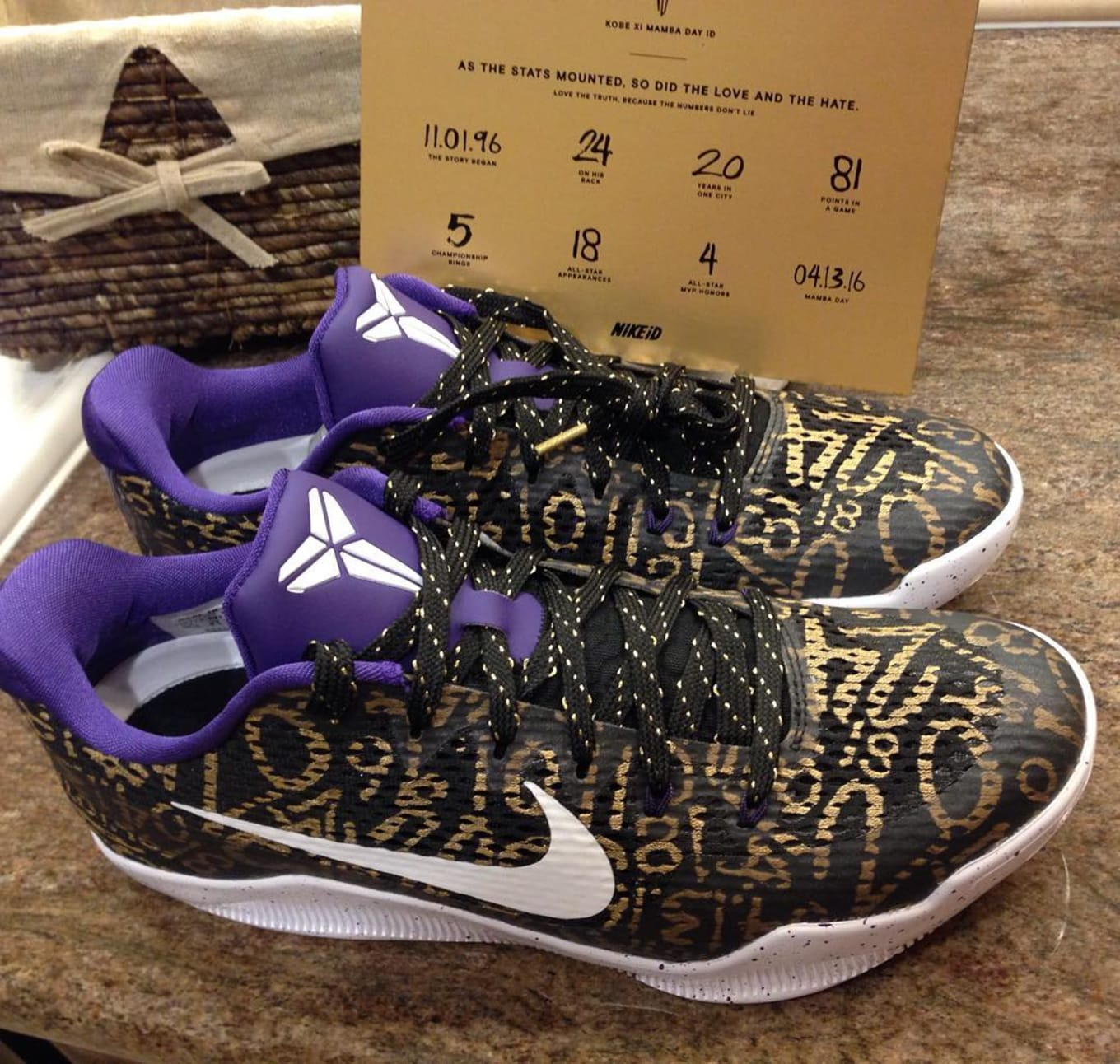cheap for discount 594e4 af2f6 Black Metallic Gold-Court Purple-White. NIKEiD Kobe 11