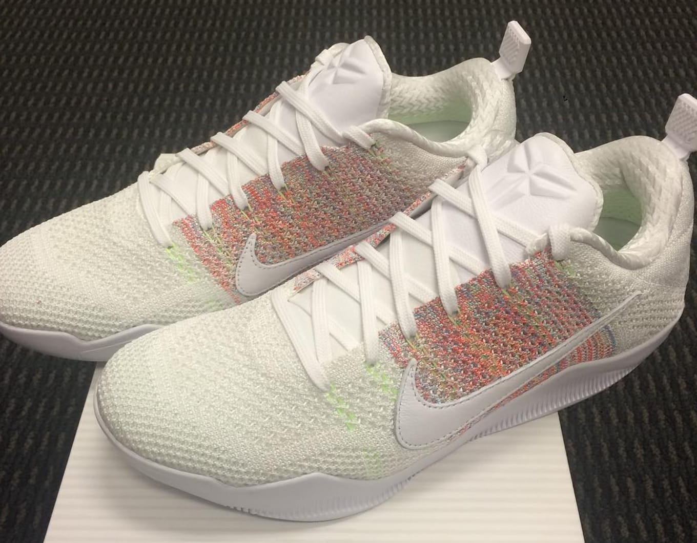 2a0e765301e9 Multicolor Flyknit Appears on Nike Kobe 11s. Could this be the Easter pair