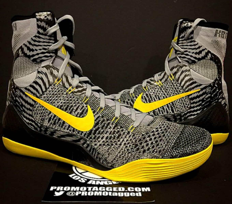 Nike Kobe 9 Elite Grey Black-Yellow Sample (2014) 6b2b4ace04