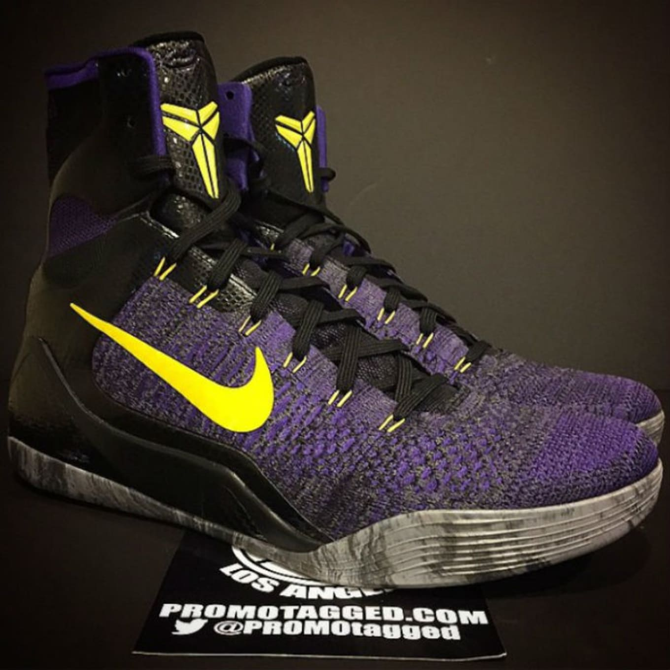 new style 9c3be ef5bc Nike Kobe 9 Elite Purple Black-Yellow Sample (2014)