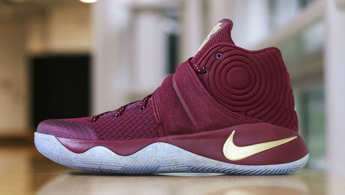 finest selection 5fbcd cf83c Nike Kyrie 2 Red Velvet/Gold Finals PE | Sole Collector