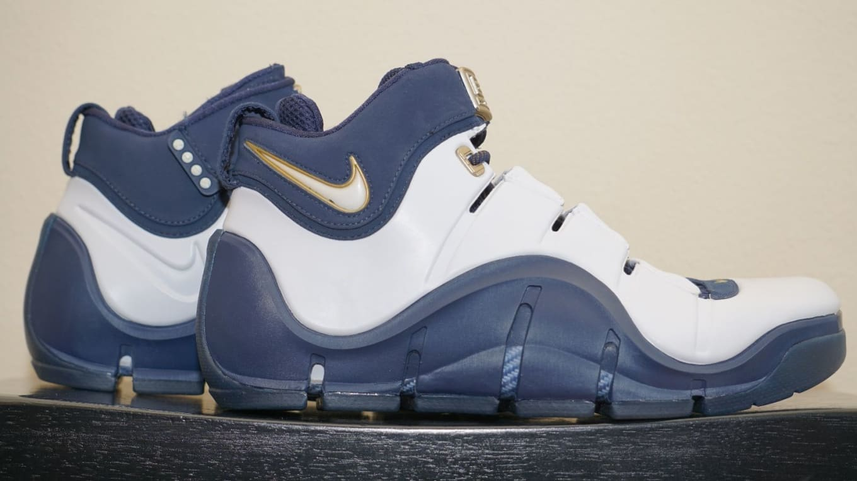 hot sale online 5b061 6ee6a Nike LeBron 4 White Navy Sample (2007)