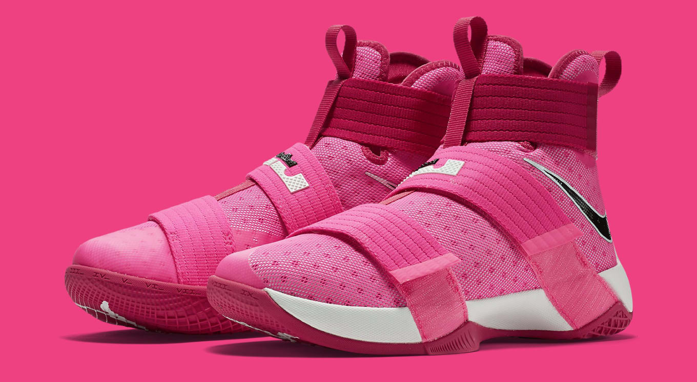 the best attitude 2affd 5247d LeBron James Thinks Pink on New Sneakers. The latest in Kay Yow colorways  on the Soldier 10.