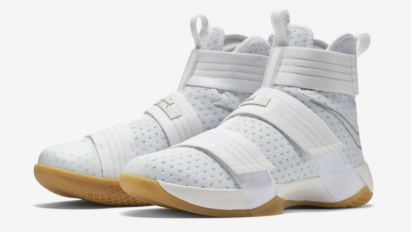 b7bfa8fe78 Nike LeBron 10 White/Gum Strive for Greatness 844379-101 (1) · Nike Zoom  LeBron Soldier 10 SFG