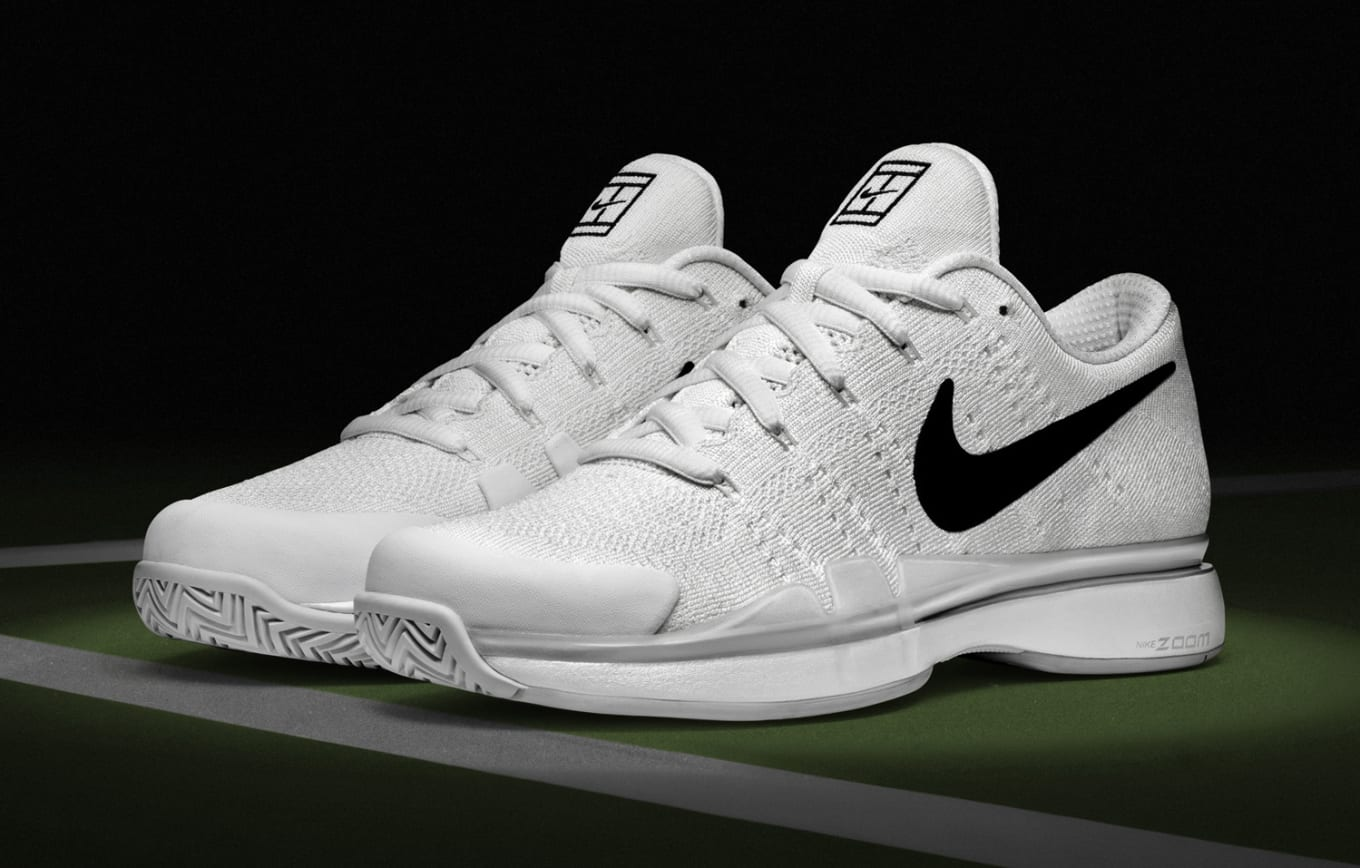 2719d6075ac Nike Adds Flyknit to Roger Federer's Tennis Shoes. The Zoom Vapor Tour 9.5  just got better.