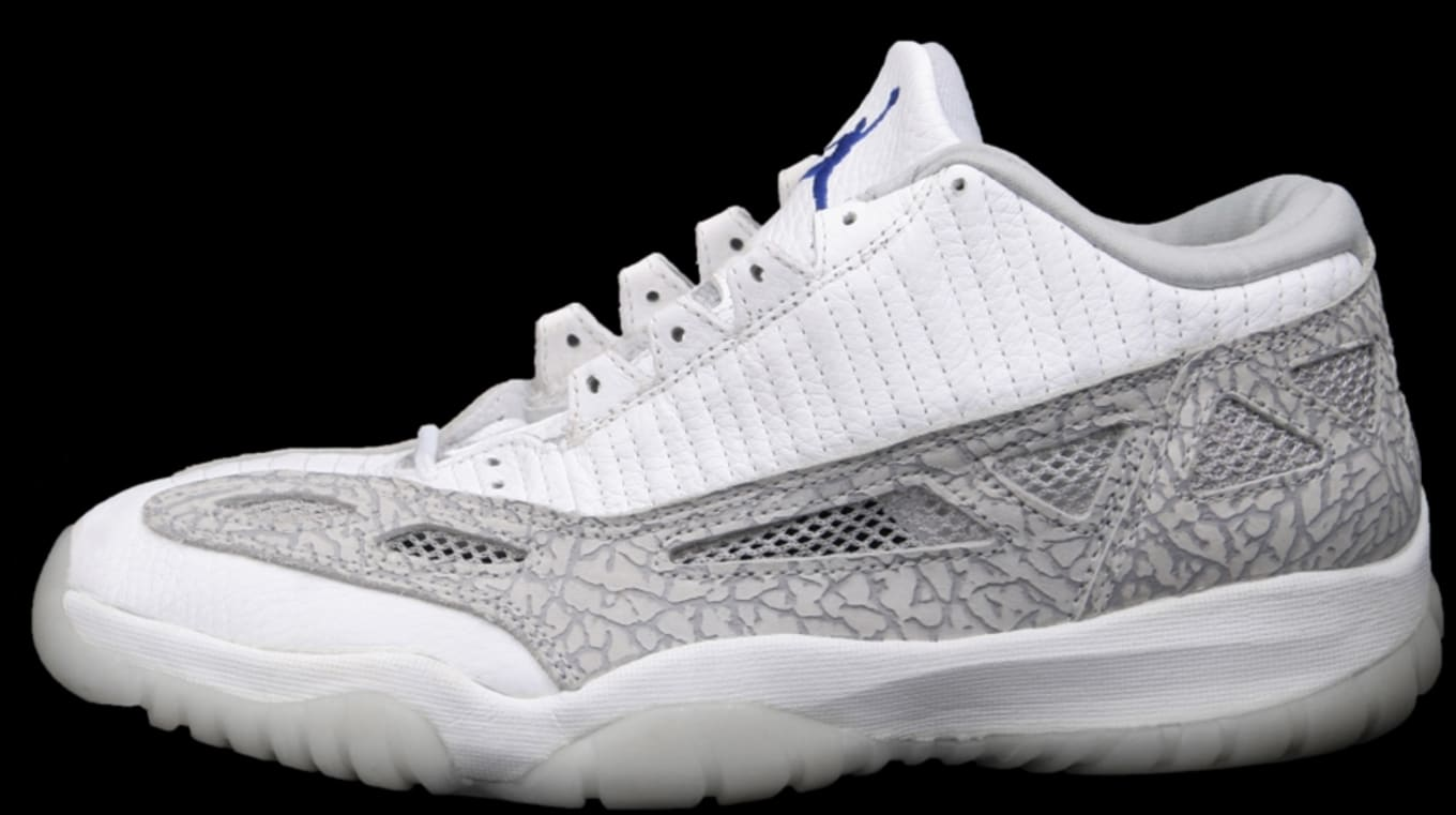 864f6d24e27cb6 Air Jordan XI Low IE White Light Grey Cobalt. Style Code  ...