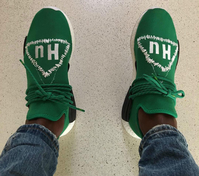 Pharrell adidas NMD Human Race Green Custom  e991fcf62