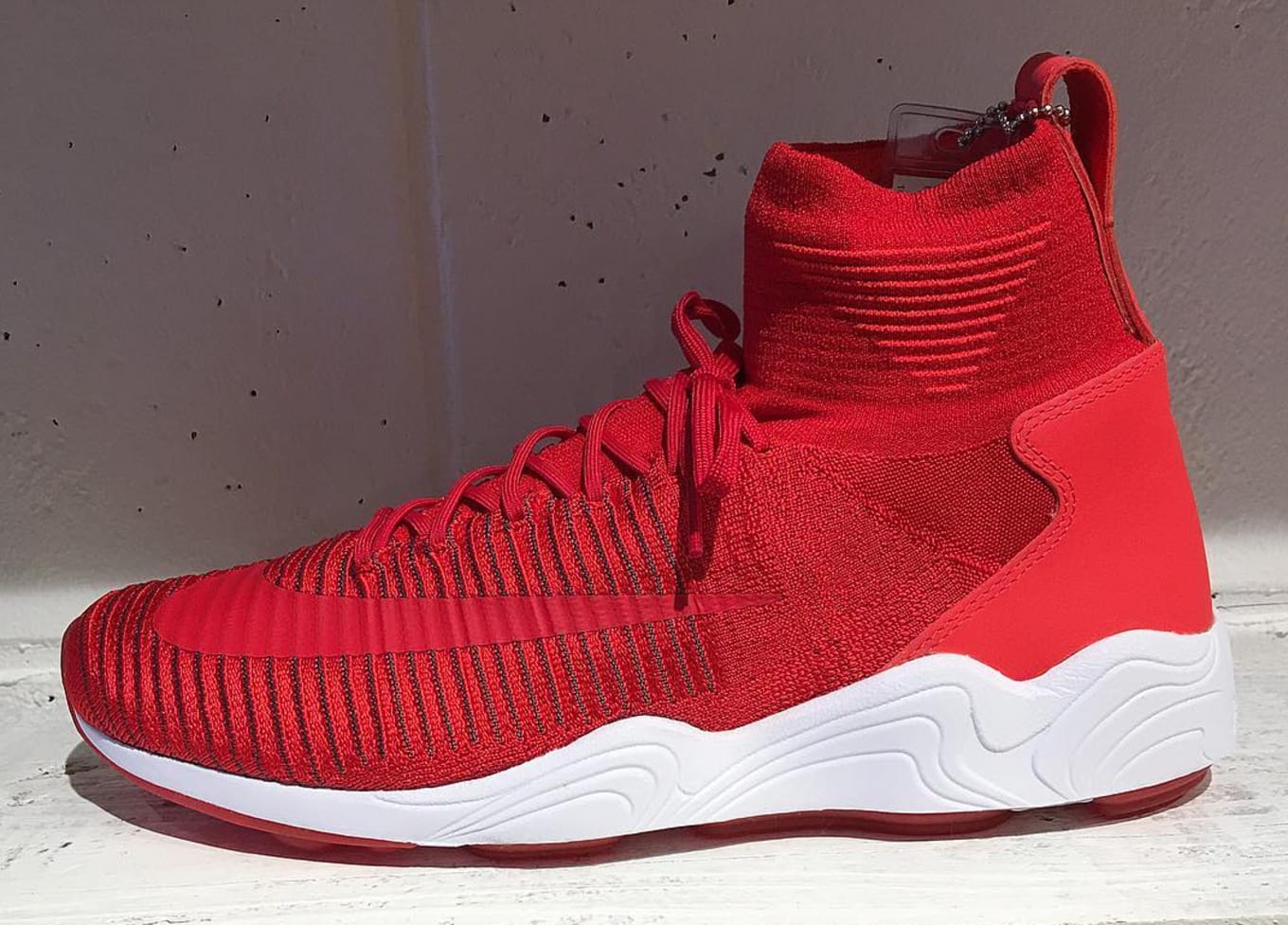 27d6096f3 Red Nike Zoom Mercurial Flyknit