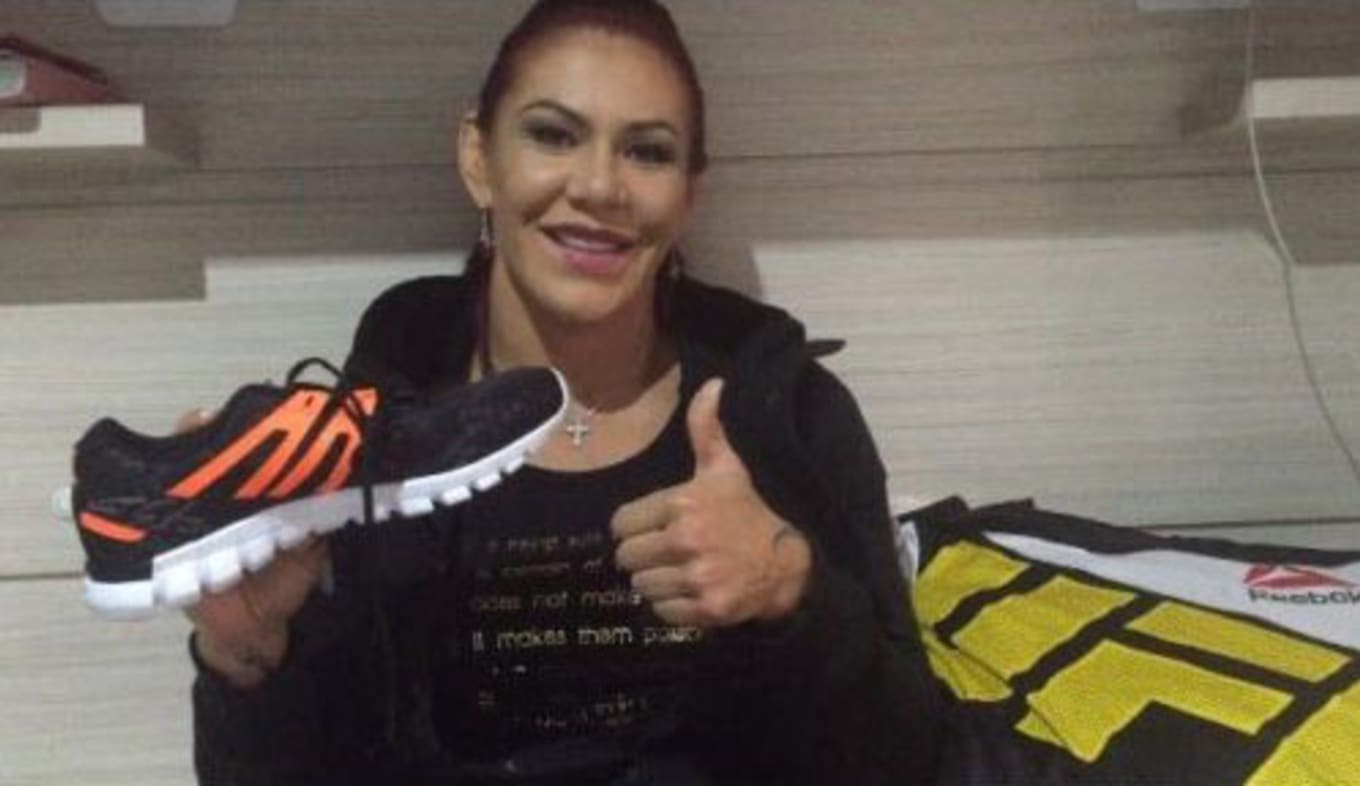 f515d7a2360 The shoes from Cris Cyborg s first ever UFC fight.