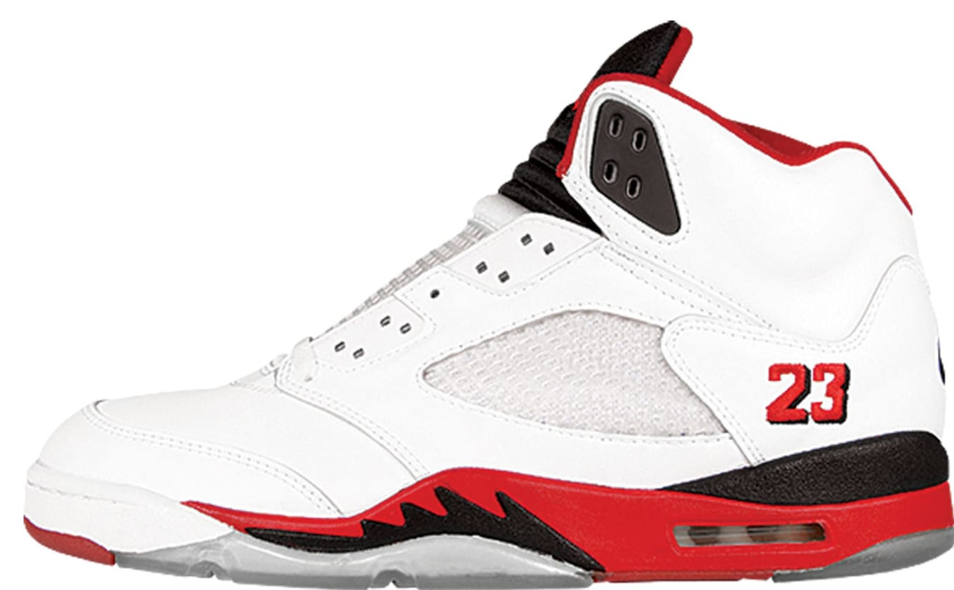 981ab642fdb9f0 Air Jordan V  Fire Red . Colorway  White Fire Red-Black Release Date  1990.  Original Price   125. Average Resell Value  N A