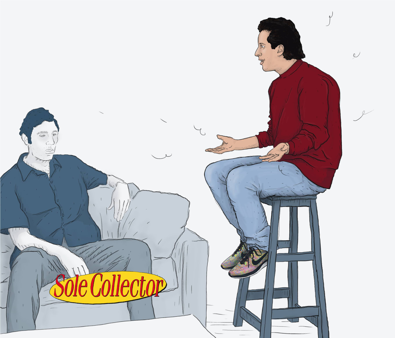 7232b93c8f92d0 What Seinfeld Would Look Like With Modern Day Sneakers