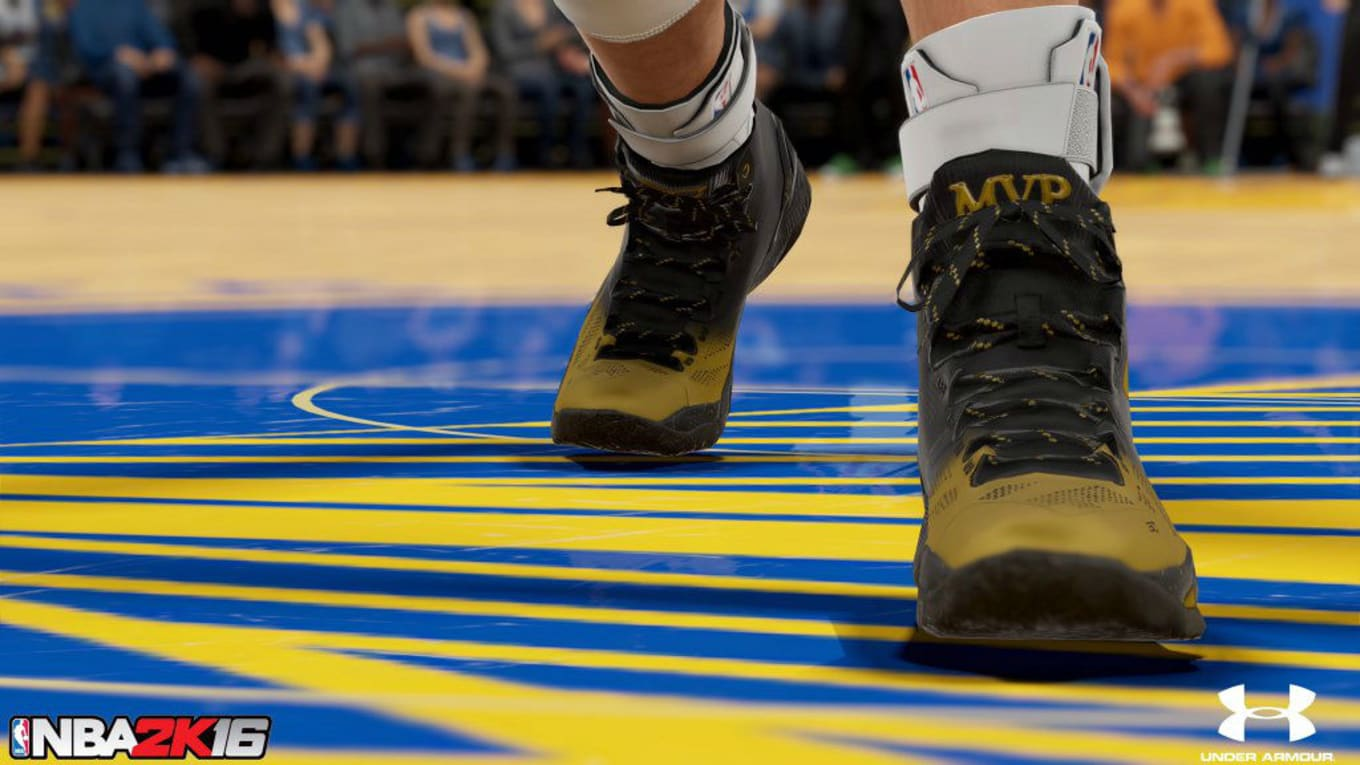 30e73f5a3c13 Stephen Curry Wears MVP Sneakers In NBA 2K16. Under Armour Curry