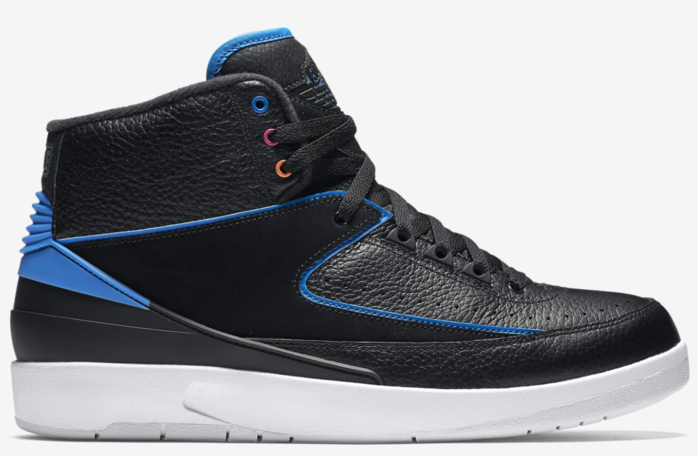 7f97321f51f7 Air Jordan 2 Retro Black Fire Pink Photo Blue Atomic Orange