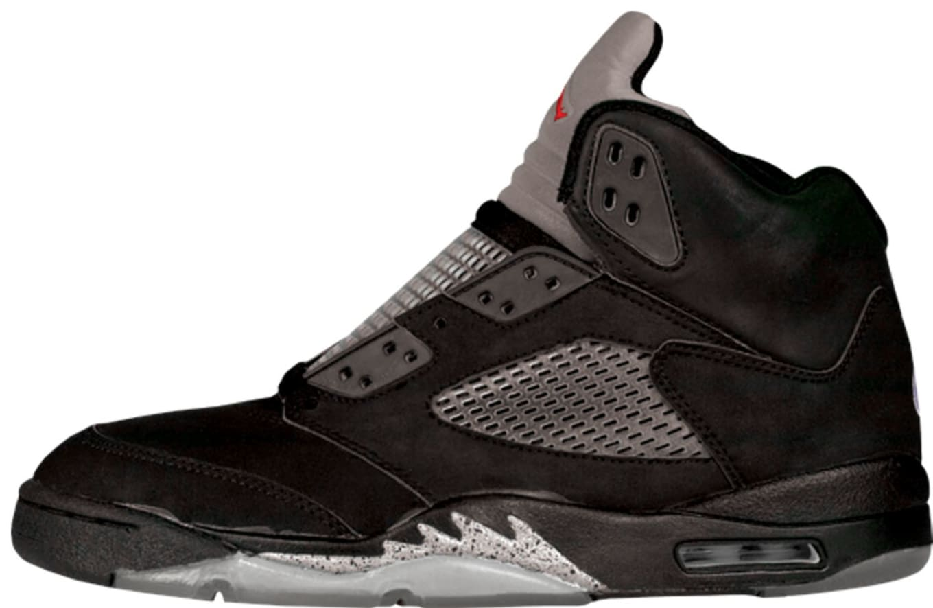 8dbc5dca7a06b4 Air Jordan 5 (V). Style Code  4384. Colorway  Black Black-Metallic Silver
