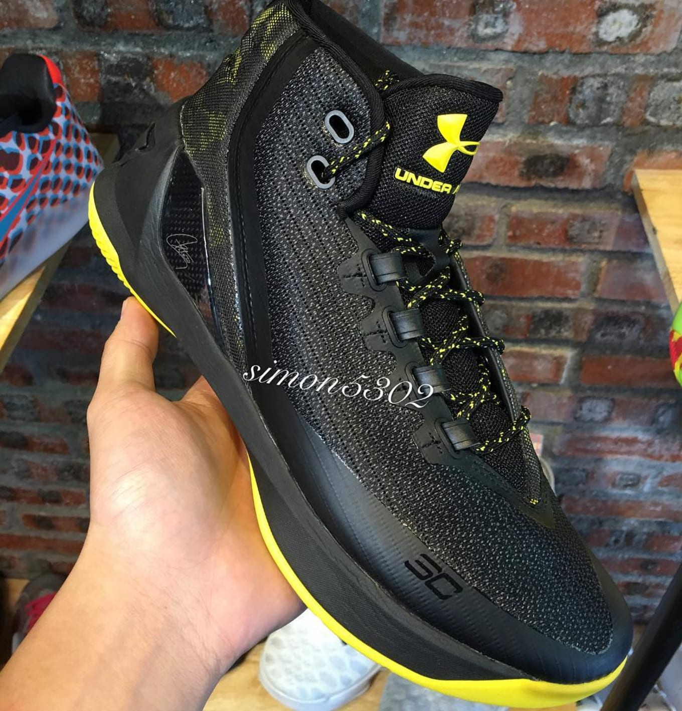 043705e2b24a Under Armour Curry 3 Black Yellow Camo Black Knight (1)