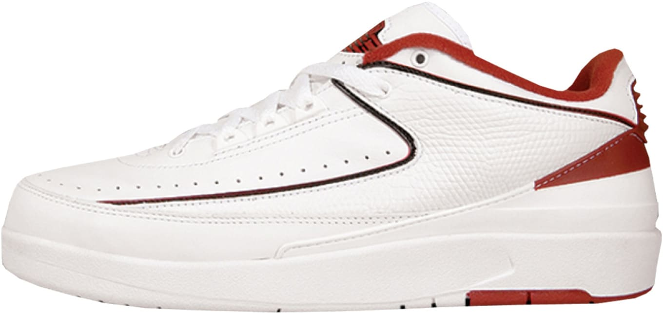 681fb8240ee9 Air Jordan 2 Retro Low White Black Varsity Red 2004