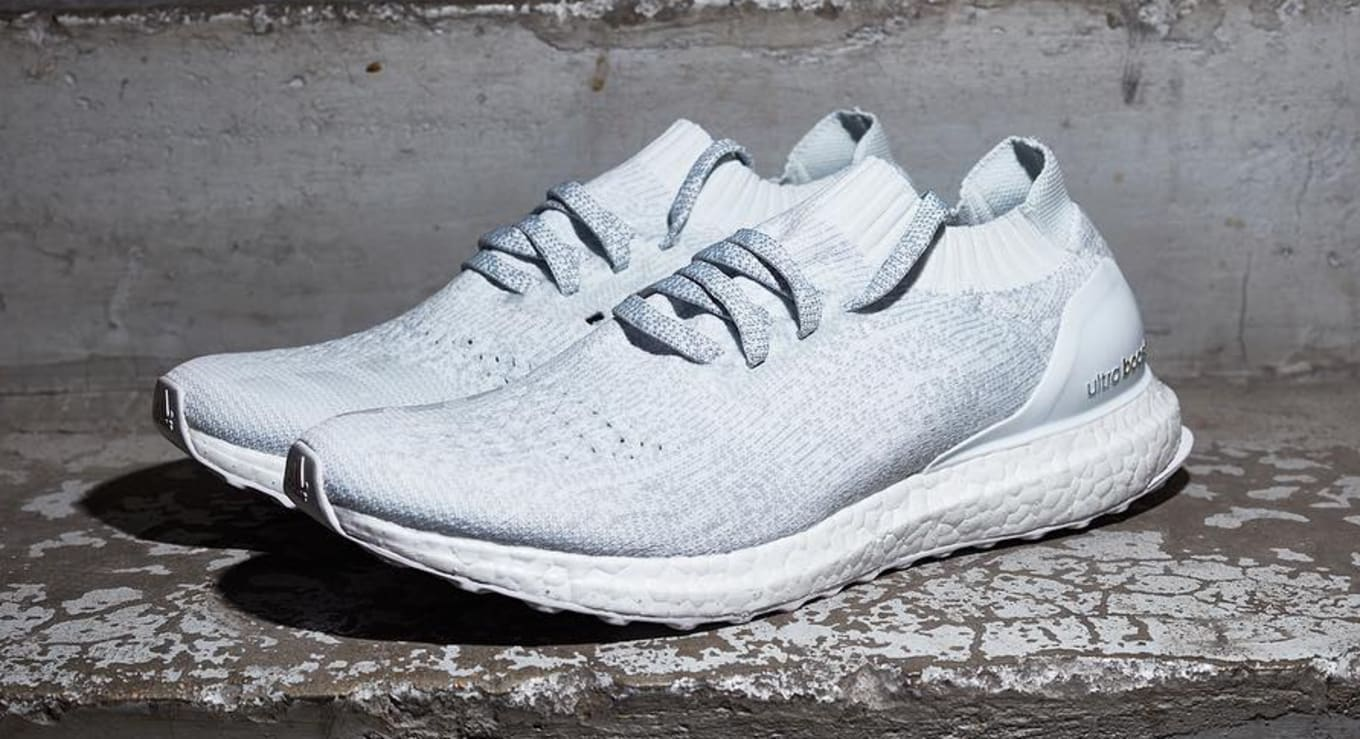 40cd96d692658 White Adidas Ultra Boost Uncaged