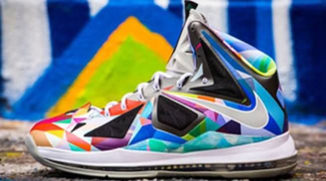 f935d675e Nike LeBron X  Shattered Prism  by ROM
